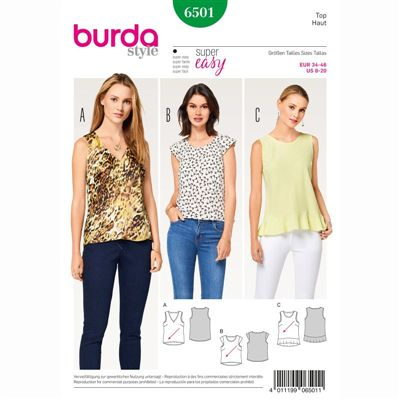 Burdapatroon 6501 top