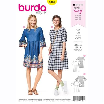 burdapatroon 6401 jurk
