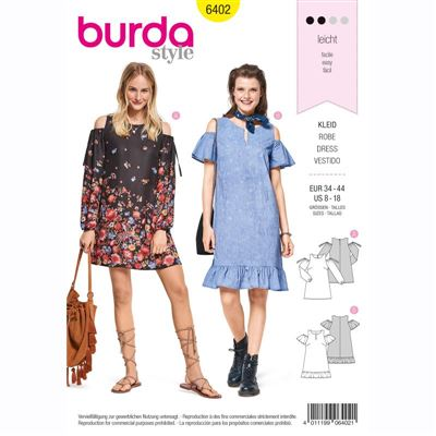 burdapatroon 6402 jurk