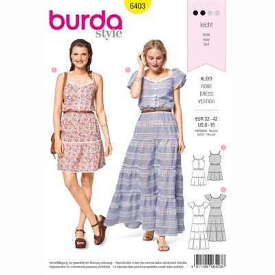burdapatroon 6403 jurk