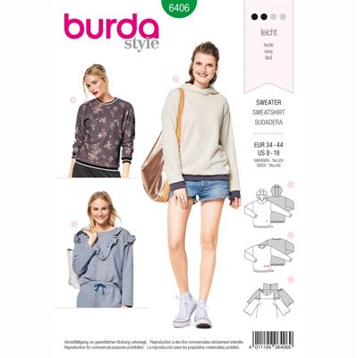 burdapatroon 6406 sweatshirt