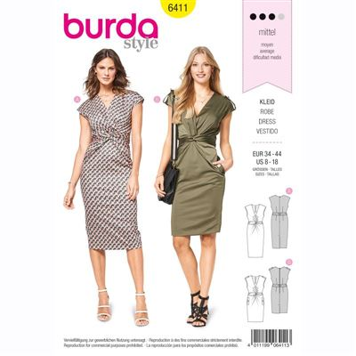 burdapatroon 6411 jurk