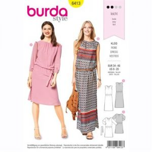 burdapatroon 6413 jurk