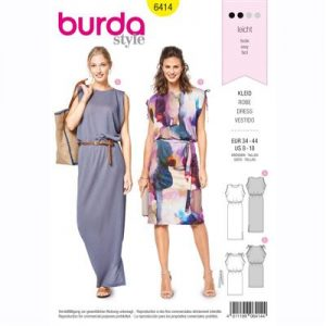 burdapatroon 6414 jurk