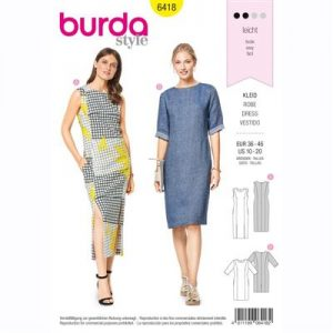 burdapatroon 6418 jurk