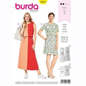 burdapatroon 6419 jurk