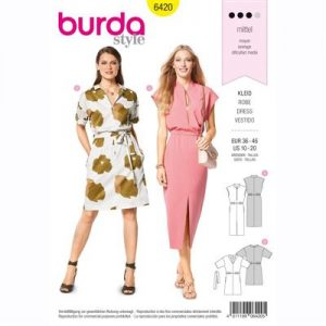 burdapatroon 6420 jurk