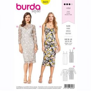 burdapatroon 6423 jurk