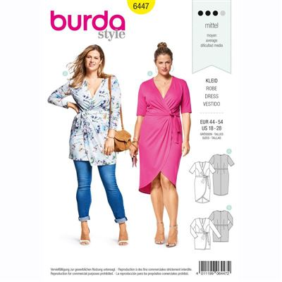 burdapatroon 6447 jurk