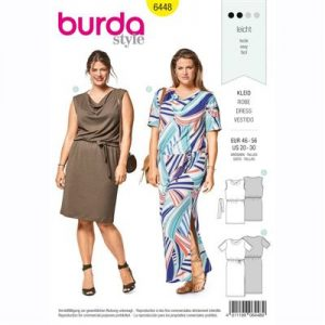 burdapatroon 6448 jurk