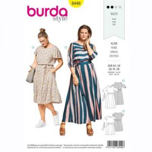 burdapatroon 6449 jurk
