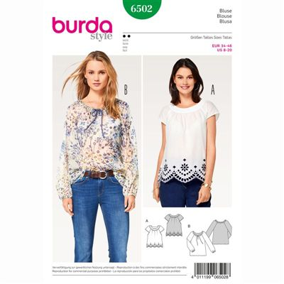 burdapatroon 6502 blouse
