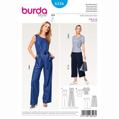 burdapatroon 6516 combinatie
