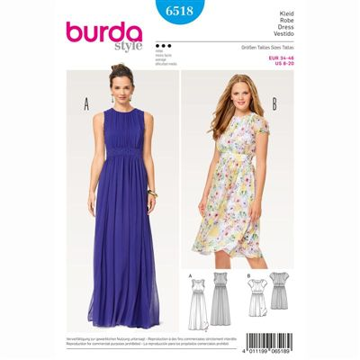 burdapatroon 6518 jurk