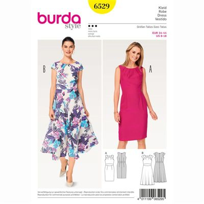 burdapatroon 6529 jurk