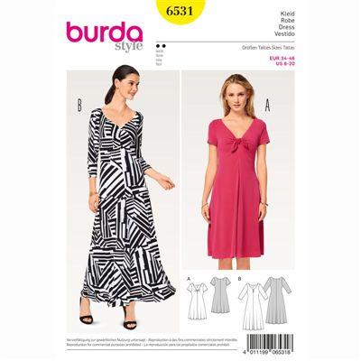 burdapatroon 6531 jurk