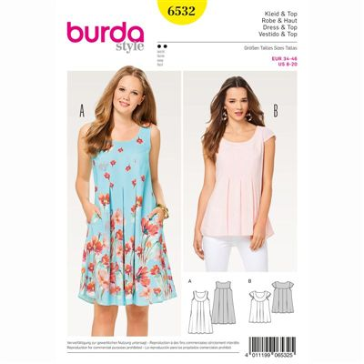 burdapatroon 6532 jurk en top