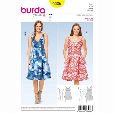 burdapatroon 6536 jurk