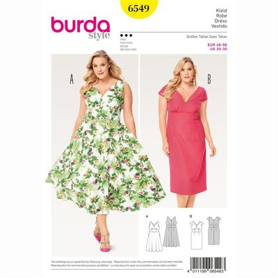 burdapatroon 6549 jurk