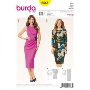 burdapatroon 6563 jurk