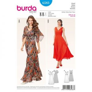 burdapatroon 6583 jurk
