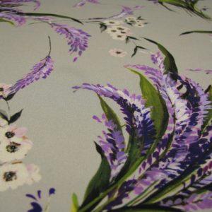 zijde grijs met bloemen Arella