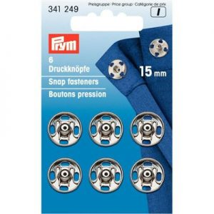 Prym drukkers zilver 15mm