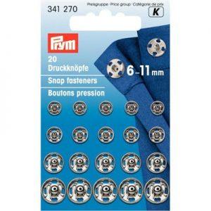 Prym drukkers zilver 6-11mm