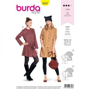 Burdapatroon 6353 jurk