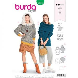 Burdapatroon 6356 pullover