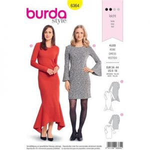 Burdapatroon 6364 jurk