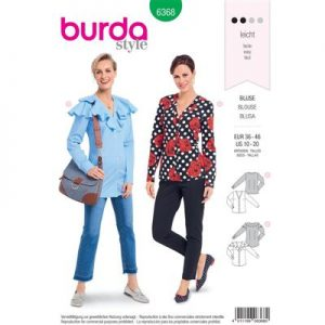 Burdapatroon 6368 blouse