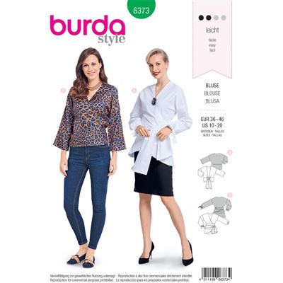 Burdapatroon 6373 blouse