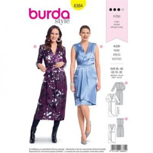 Burdapatroon 6384 jurk