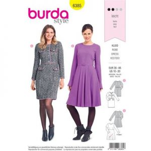 Burdapatroon 6385 jurk