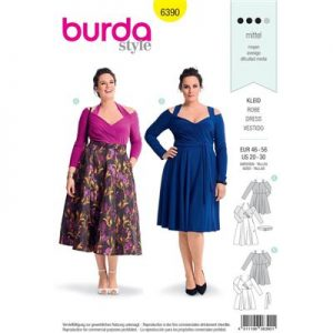 Burdapatroon 6390 jurk