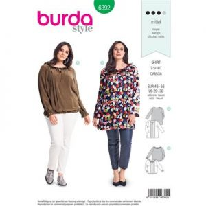 Burdapatroon 6392 blouse
