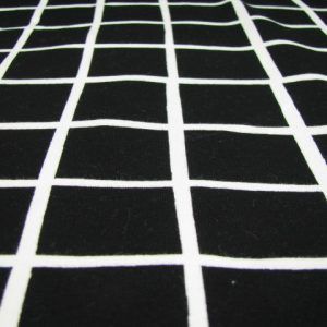 Tricot zwart wit ruit Eva Mouton