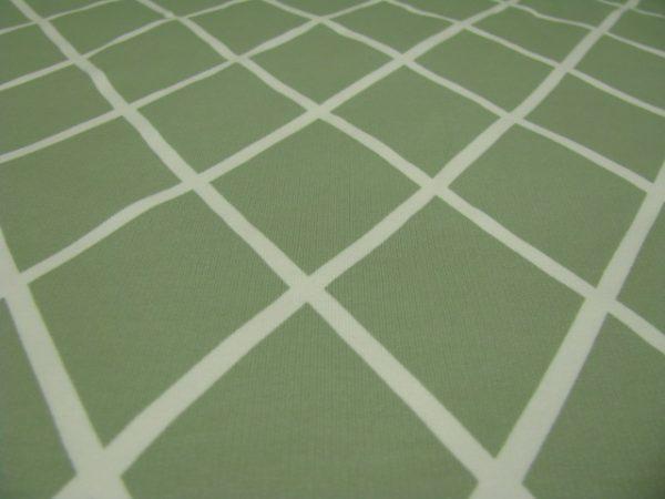 Tricot groen met wit ruit Eva Mouton