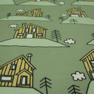 Tricot huisje groen Eva Mouton