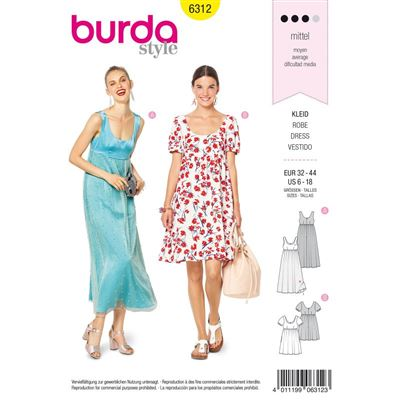 Burdapatroon 6312 jurk