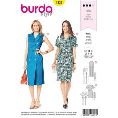 Burdapatroon 6321 jurk