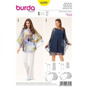 Burdapatroon 6589 top en jurk