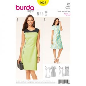Burdapatroon 6627 jurk