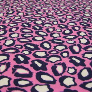 Tricot dierenprint roze blauw Nooteboom