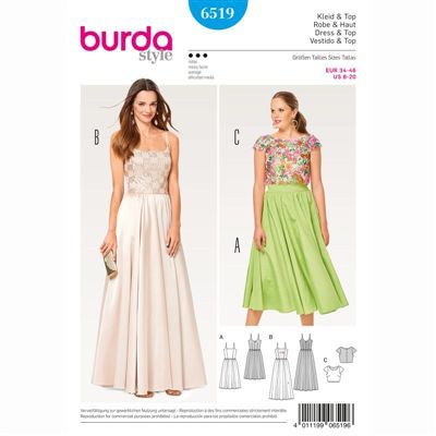 burdapatroon 6519 jurk en top