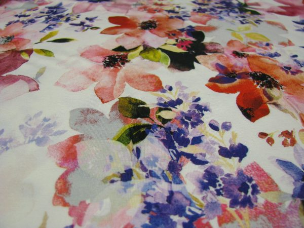 tricot met bloemen Editex