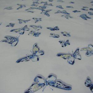 Katoen met blauwe vlinders Editex