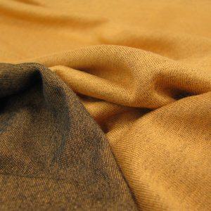 tricot oranje zwart dubbelface Editex
