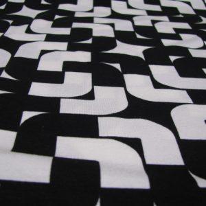 tricot zwart wit Gossypium
